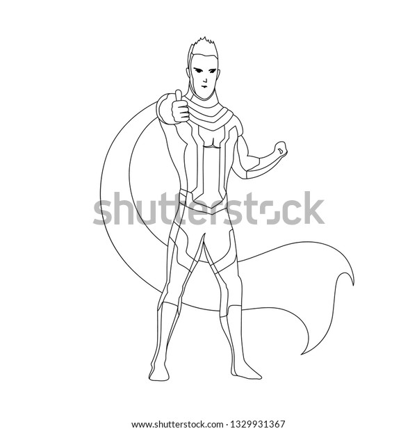 Superhero Coloring Book Isolated Comic Book Stock Vector ...