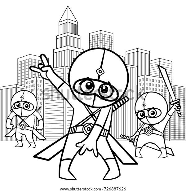 Superhero Coloring Page Stock Vector Royalty Free 726887626