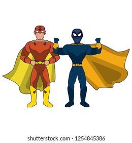 Superhero couple characters