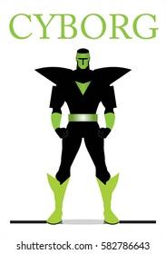 superhero. cyborg. villain