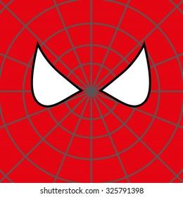 Superhero Face Background. Vector