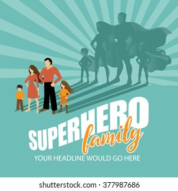 Superhero Family burst background EPS 10 vector