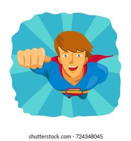 Superhero in flight