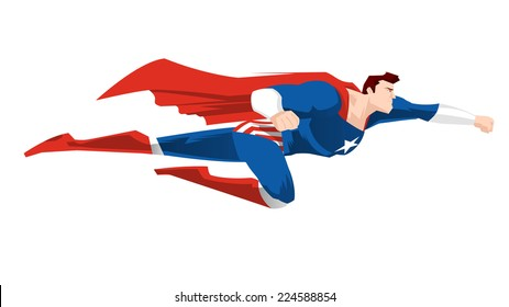Superhero Flying always Ready to Save the Day