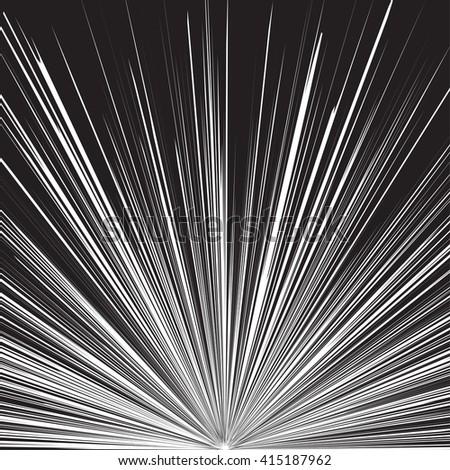 Superhero FrameComic Book Black And White Radial Lines BackgroundManga Or Anime Speed