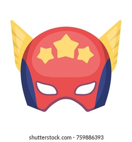 Superhero helmet. Headgear superhero to protect mankind.Superhero single icon in cartoon style bitmap,raster symbol stock illustration.