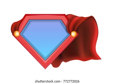 Superhero icon - Superhero logo. Super hero shield. Heroic style template for your design. Vector illustrations for website and mobile website banners, posters, email and newsletter designs, ads, coup