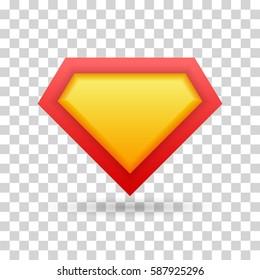 Superhero icon, logo. Vector illustration