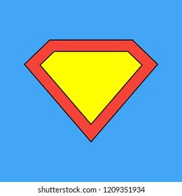 Superhero icon. Superman logo template. Superman vector icon. Vector illustration