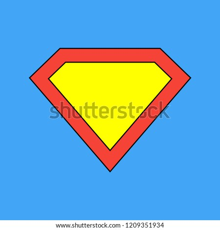 Superman Logo Template Vector Icon Illustration