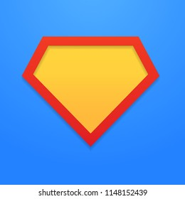 Superhero icon, symbol, sign. Vector illustration. EPS 10