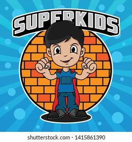 superhero kids design vector, vector EPS 10