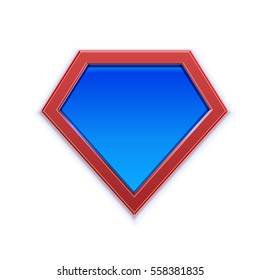 superhero logo template blank super hero stock vector royalty free