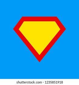 Superhero logo template.