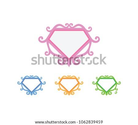 superhero logo template stock vector royalty free 1062839459