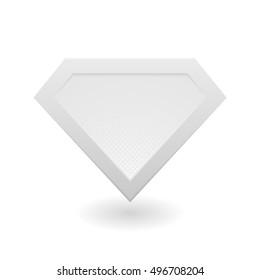 metal superhero logo template vector isolated vector de stock libre