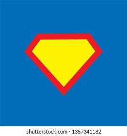 Superhero logo template on blue background