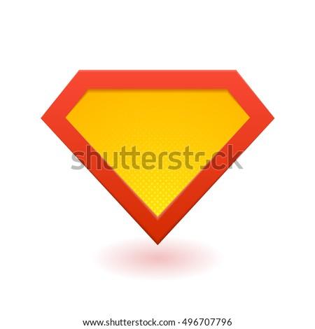 superhero logo template red yellow orange のベクター画像素材