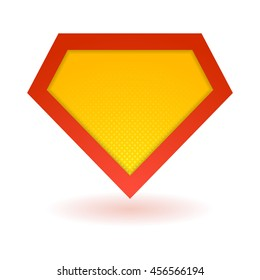 Superhero logo template. Vector, isolated, eps10.