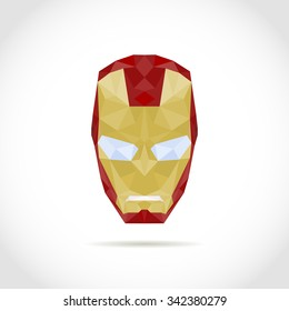 superhero mask. low poly design in triangles. Polygon