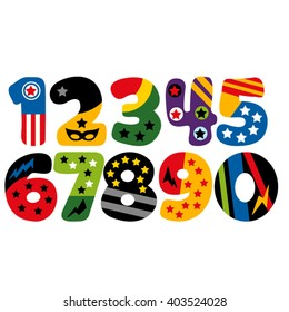 Superhero numbers vector.