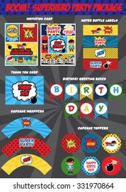Superhero party package set