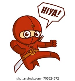 Superhero Red Ninja Kid