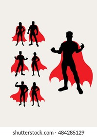Superhero Silhouette, art vector design