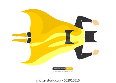Superhero Silhouette Vector with Bat Character. Flying Fast Position. Vector Illustration eps.10