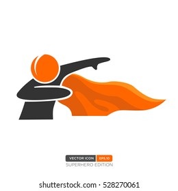 Superhero Silhouette Vector. Vector of People icon. Vector Illustration eps.10