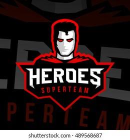 Superhero sport logo. Vector, isolated, eps 10.