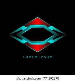 Superhero vector badges. Abstract geometric logo