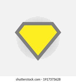 Superhero vector icon isolated on white background. Superman logo template