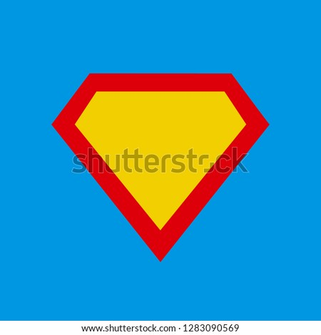 Superhero vector icon modern