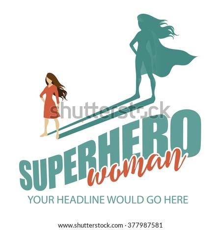 superhero woman design template eps 10 stock vector royalty free