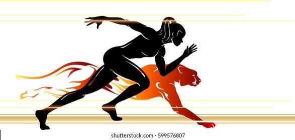 Superhuman Speed Female Silhouette