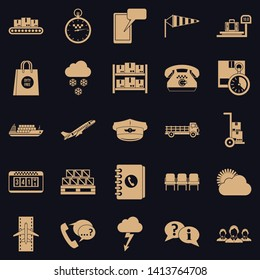 Superintendent icons set. Simple set of 25 superintendent vector icons for web for any design