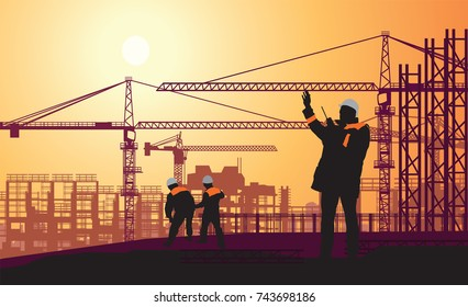 superintendent manages the construction on the radio