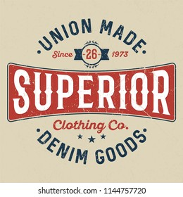 Superior Denim Goods - Tee Design For Printing