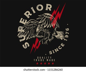 superior eagle graphic tee
