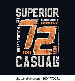 superior genuine vintage denim graphic typography t shirt vector illustration