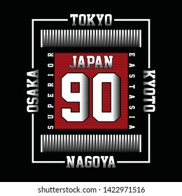 superior japan live style vector illustration for t shirt