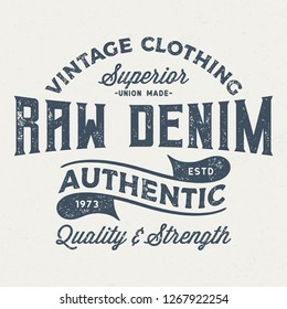 Superior Raw Denim - Aged Tee Design For Printing