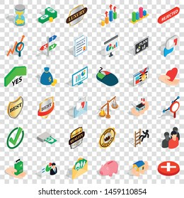 Superiority icons set. Isometric style of 36 superiority vector icons for web for any design