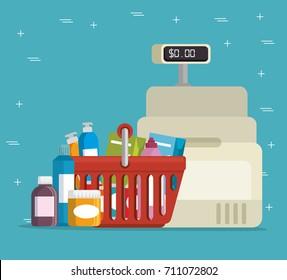 supermaket storecash register