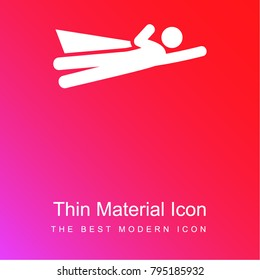 Superman Flying red and pink gradient material white icon minimal design