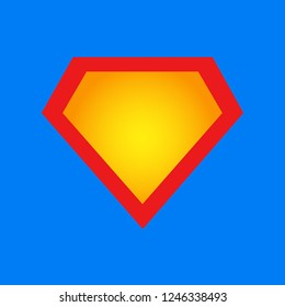 Superman shield. Superhero emblem. Logo icon. Vector illustration. EPS 10