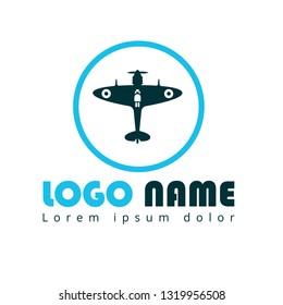 Supermarine Spitfire aircraft  logo concept. Designed for your web site design, logo, app, UI. World War II airplane fly machine logo