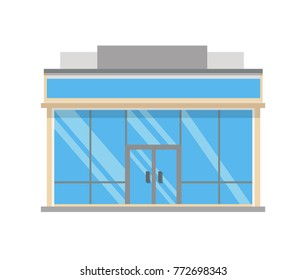Supermarket building. Vector