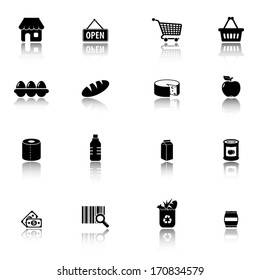 Supermarket, Groceries icons